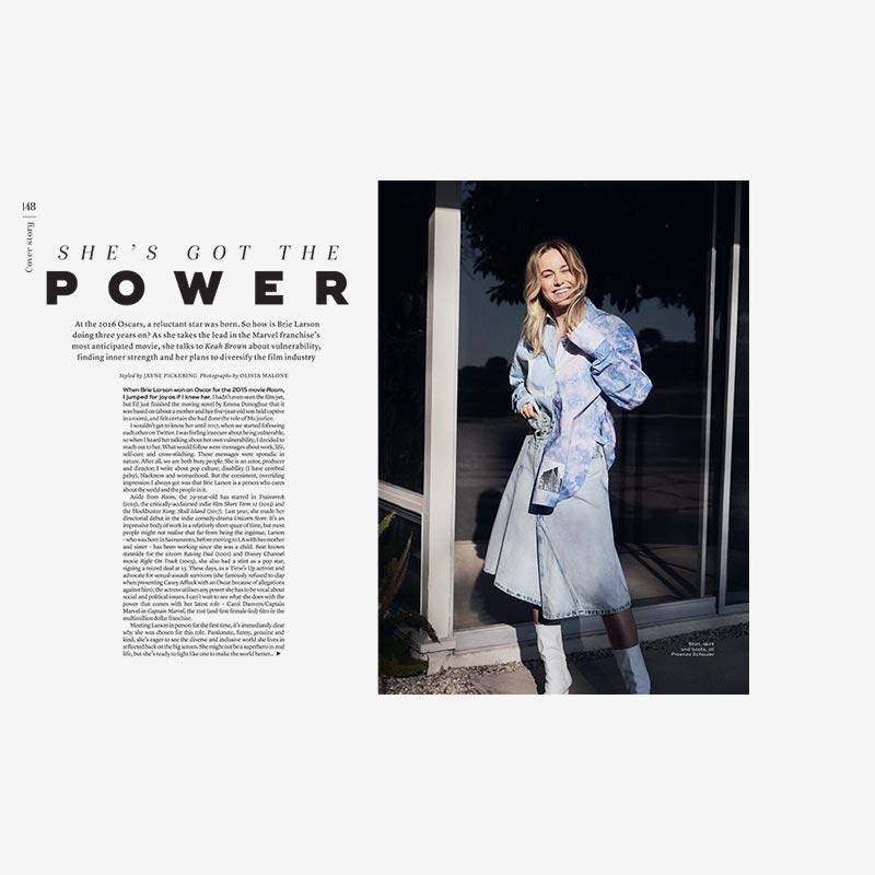 MARIE CLAIRE UK: BRIE LARSON x OLIVIA MALONE